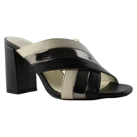 d24b73b4a Anne Klein Womens 25022222 Black Slides Size 6