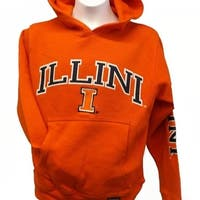 Illinois Fighting Illini YOUTH Sizes S-M-L-XL Orange Hoodie 30