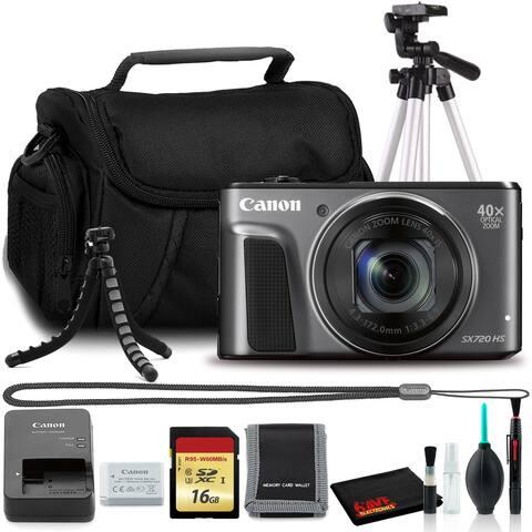 Canon Powershot SX720 Digital Camera (Black) (Intl Model) + Bag +