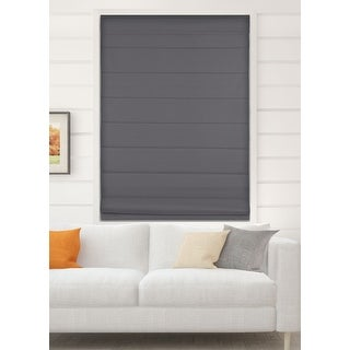 Link to Arlo Blinds Graphite Room Darkening Cordless Lift Fabric Roman Shades Similar Items in Blinds & Shades