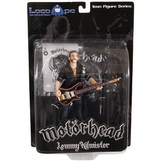 "Motorhead Lemmy Kilmister 7"" Icon Figure Rickenbacker Guitar Dark Wood"