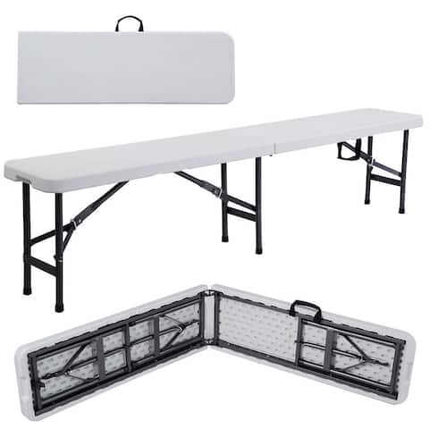 Portable In/Outdoor Picnic Party Camping Dining Folding Bench Chair