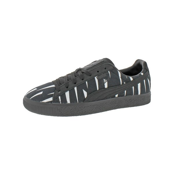 Shop Puma Mens Clyde Black Rain Fashion Sneakers Graphic Low Top ... 3f94a869e8a