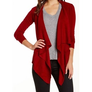 Sweet Romeo NEW Red Women's Size Small S Draped Open Cardigan Sweater