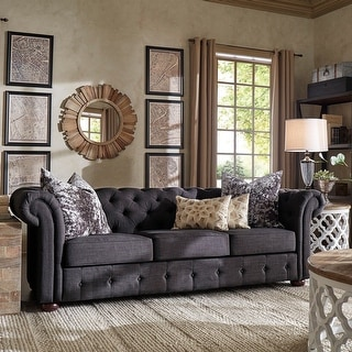 Link to Knightsbridge Tufted Scroll Arm Chesterfield Sofa by iNSPIRE Q Artisan Similar Items in Sofa Sets