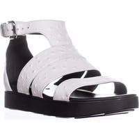 Via Spiga Cora Gladiator Buckle Sandals, White Leather - 6 us / 36 eu