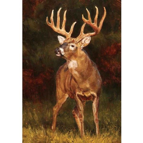 """18"""" x 13"""" Dignified Deer Garden Flag - N/A"""