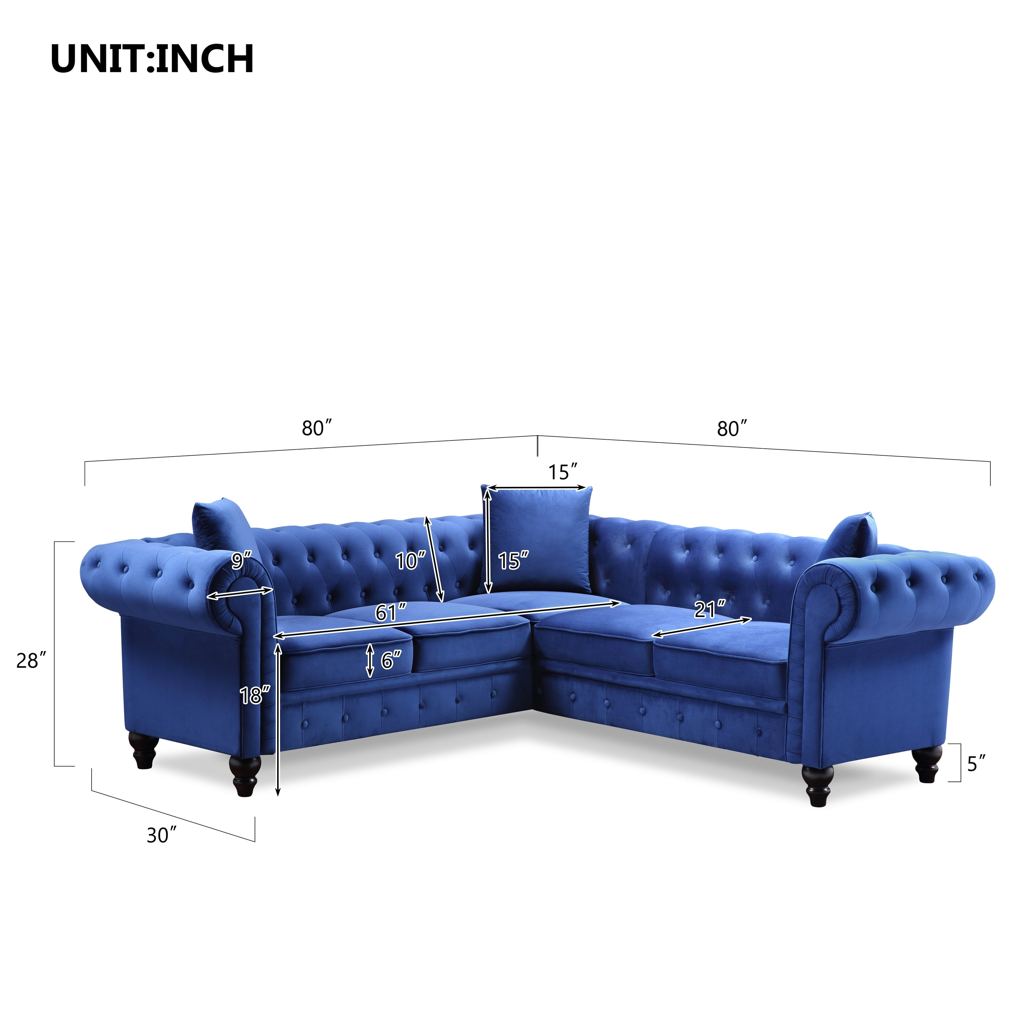 Shop For Tufted Velvet Upholstered Rolled Arm Classic Chesterfield Sectional Sofa With 3 Pillows Get Free Shipping On Everything At Overstock Your Online Furniture Outlet Store Get 5 In Rewards With Club O 32321857