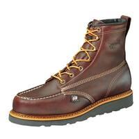 Thorogood Work Boots Mens Leather Wedges Moc Toe Black Walnut 814-4266