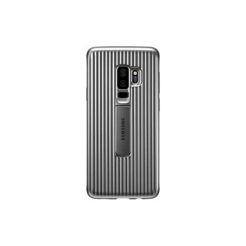 Samsung Galaxy S9 Rugged Protective Cover with Kickstand - Silver