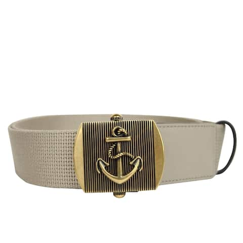 4fc8a7dda Gucci Men's Military Beige Fabric Belt Anchor Brass Buckle 375191 1523