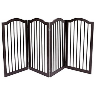Link to Internet's Best Pet Gate with Arched Top | 4 Panel | 36 Inch Tall Fence | Free Standing Doorway Hall Stairs Dog Puppy Gate Similar Items in Dog Furniture