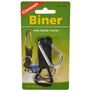 Coghlan's Carabiner with Bottle Carrier and Keychain - Black