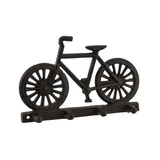 Rustic Brown Bicycle Key Holder Wall Hanging - 5 X 7.75 X 1.25 inches