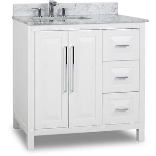 "Jeffrey Alexander VAN104-36-T Cade Contempo 36"" Vanity Set with Wood Cabinet, Marble Top, and One Undermount Sink"