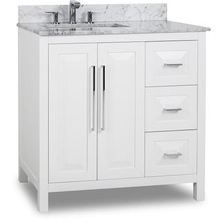 "Jeffrey Alexander VAN104-36-T Cade Contempo 36"" Vanity Set with Wood Cabinet"