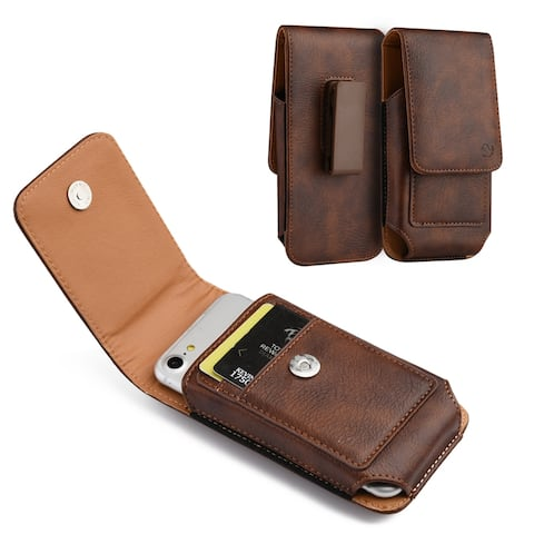 Universal Holster Wallet Case for iPhone 8 Plus, Xs, Galaxy A21, Moto