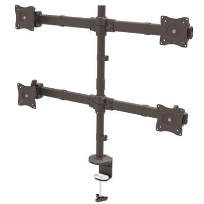"Startech Quad Monitor Mount – Articulating – Clamp Or Grommet Mount – Monitors Up To 24"" – Vesa Mount – 4 Monitor Se"