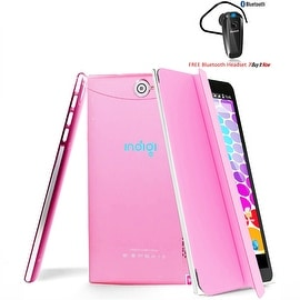 Indigi® Unlocked 3G (2-in-1) SmartPhone & TabletPC w/ Built-In SmartCover + WiFi + Bluetooth Included(Pink)