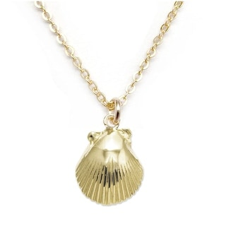 "Julieta Jewelry Conch Shell Gold Charm 16"" Necklace"