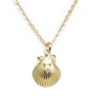 """Julieta Jewelry Conch Shell Gold Charm 16"""" Necklace
