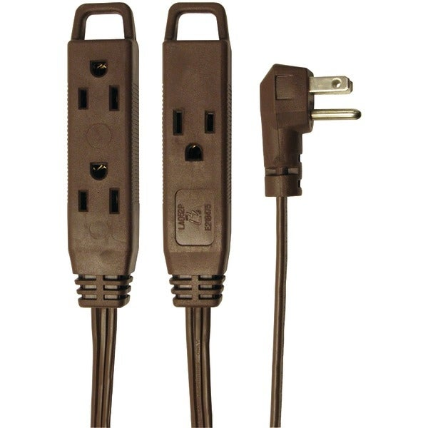 Axis 45504 3-Outlet Indoor Extension Cord, 8Ft (Brown)