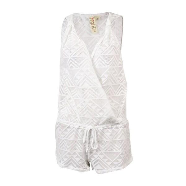 f8fabcdea0 Shop Miken Women's Crochet Sleeveless Swimsuit Romper Cover Up ...