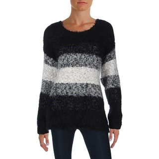 Two by Vince Camuto Womens Pullover Sweater Eyelash Colorblock