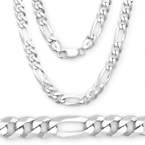 Sterling Silver Figaro Link Chain & Necklace