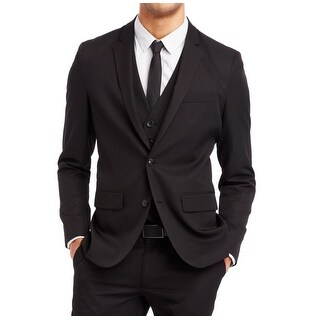 Reaction Kenneth Cole NEW Black Mens Size Large L Two Button Blazer