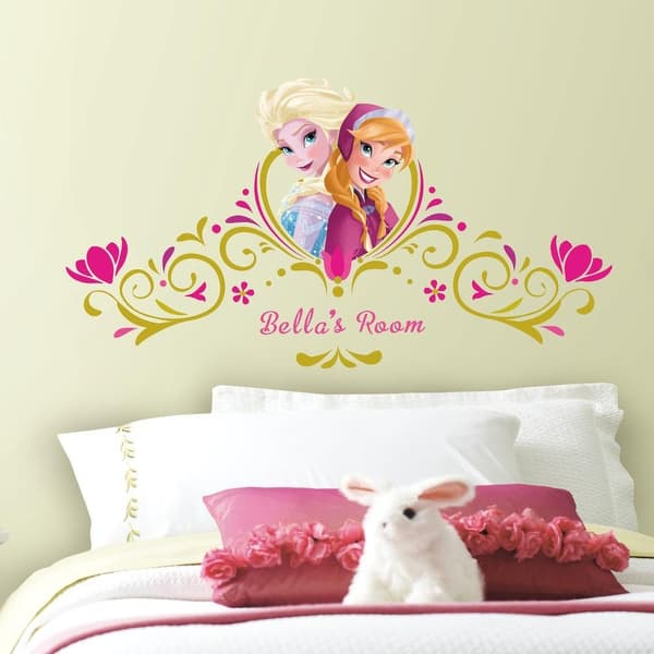 Shop York Wallcoverings Rmk2748gm Frozen Springtime Custom Headboard Peel And Stick Giant Wall Decals Pink Overstock 16087879