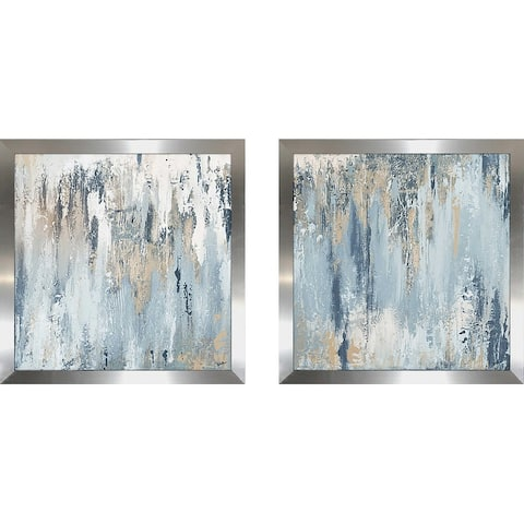 """Blue Illusion Square"" Print on Acrylic Set of 2"