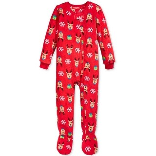 Family PJs Footed Pajamas Holiday Reindeer