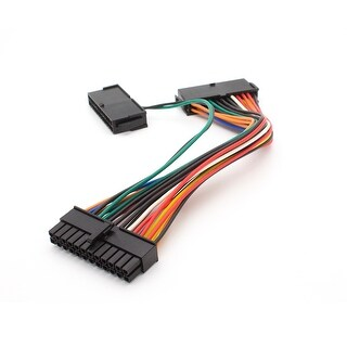 Gulfe Dual 24-Pin Mining Adapter Cable ATX Power Supply Connector Splitter Dual-PSU