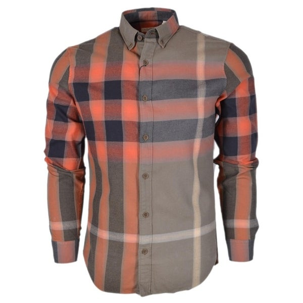 180998af3123 Burberry Brit Men's Fred Khaki Nova Check Cotton Long Sleeve Shirt