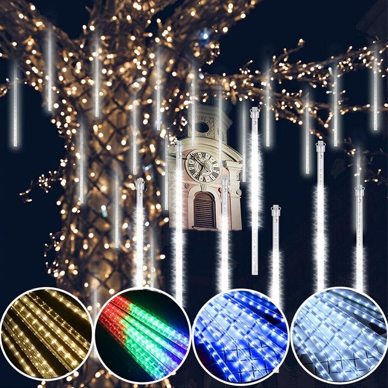 LED String Light Solar Meteor Shower Light Garden Outdoor Indoor String Lamp