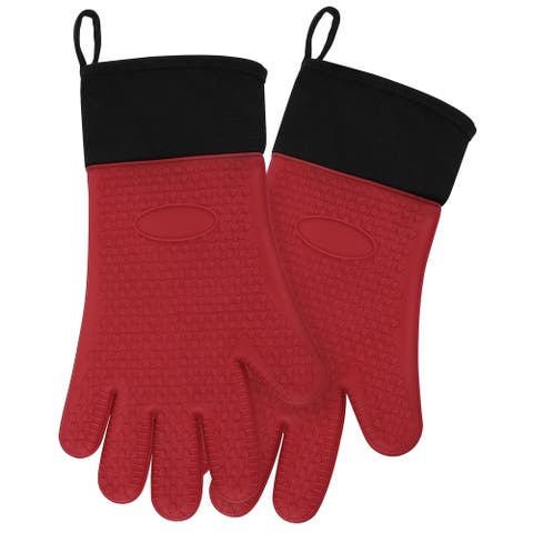 Silicone Oven Mitts Toaster Heatproof Gloves 1 Pair