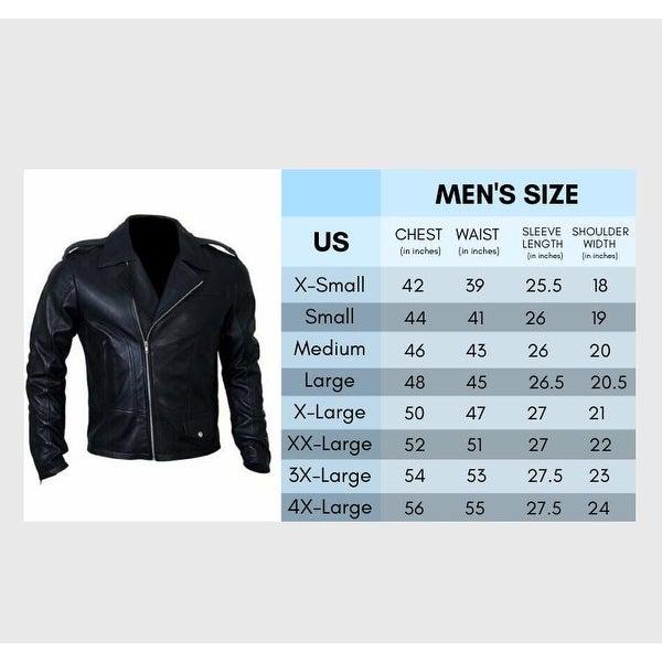 AQ Mens Leather Jacket Mens Genuine Premium Lamb Skin Hand Crafted Jacket