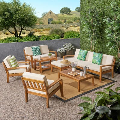 Grenada Outdoor 7-seat Sectional Set by Christopher Knight Home