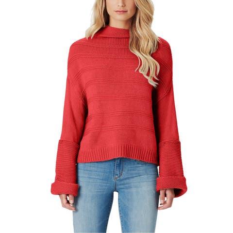 Jessica Simpson Women's Red Size XL Bell Sleeve Turtleneck Mock Sweater