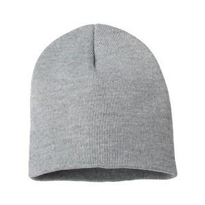 Sportsman 8 Inch Knit Beanie - Heather Grey - One Size