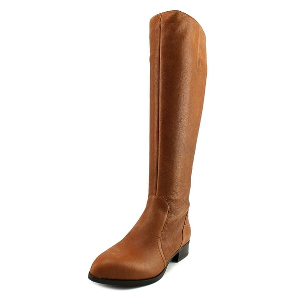 Nine West Nicolah Wide Calf Women Cognac Boots