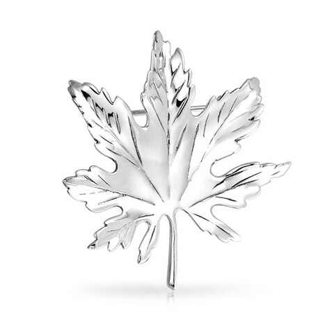 Bling Jewelry 925 Sterling Silver Canada Day Maple Leaf Pin Brooch