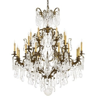 Metropolitan N950040 24 Light 3 Tier Candle Style Crystal Chandelier from the Vi