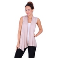 Simply Ravishing Women's Basic Sleeveless Open Cardigan (Size: Small-5X) - Thumbnail 10