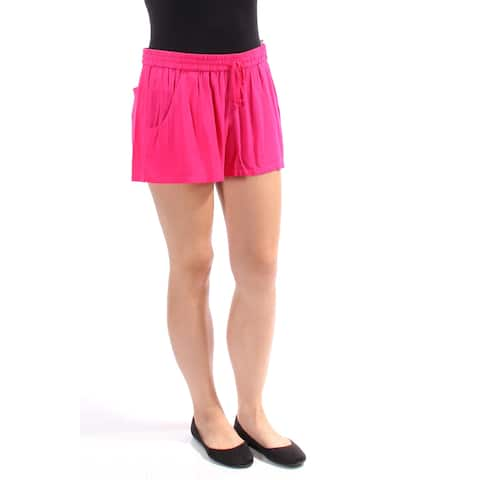 FRENCH CONNECTION Womens Pink Tie Short Size: 10