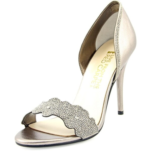 E! Live From The Red Carpet Willow Women Open-Toe Canvas Bronze Heels