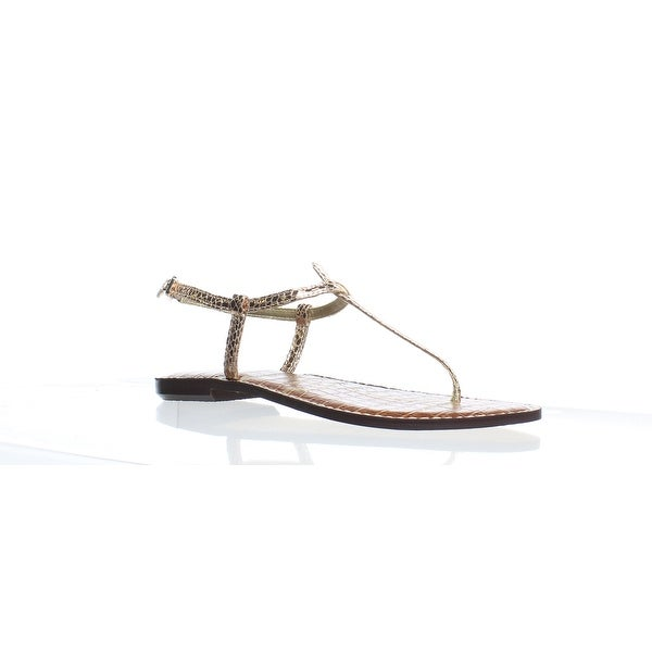 7f514552dad8 Shop Sam Edelman Womens Gigi Rose Gold T-Strap Sandals Size 6.5 - Free  Shipping Today - Overstock - 27900108