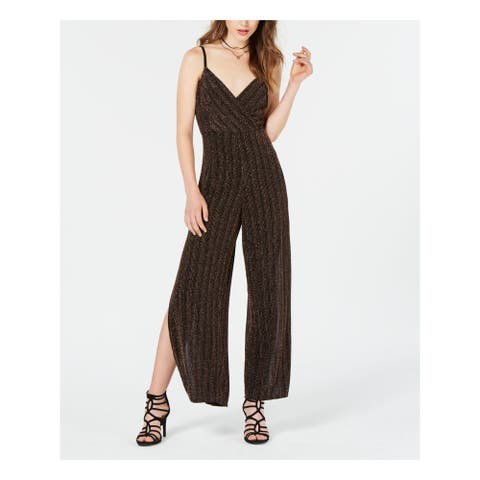 MATERIAL GIRL Black Spaghetti Strap Jumpsuit Size S