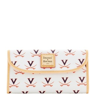 Dooney & Bourke NCAA Virginia Continental Clutch (Introduced by Dooney & Bourke at $128 in Jan 2016) - White